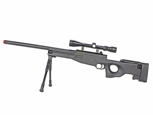 BBTac Airsoft Rifle 2 BBTac BT59 Airsoft Sniper Rifle Bolt Action Type 96 Airsoft Gun with 3X Rifle Scope and Aluminum Bipod
