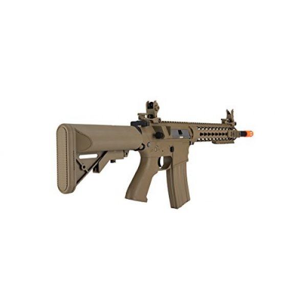 Lancer Tactical Airsoft Rifle 4 Lancer Tactical GEN 2 M4 Custom Body AEG Metal Gear Electric Airsoft Rifle - TAN