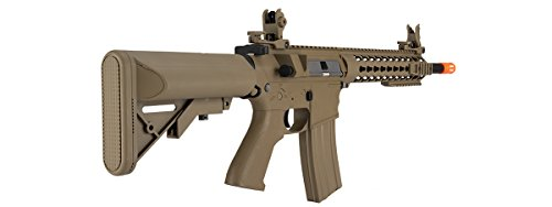 Lancer Tactical  4 Lancer Tactical GEN 2 M4 Custom Body AEG Metal Gear Electric Airsoft Rifle - TAN