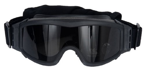Lancer Tactical Airsoft Goggle 1 Lancer Tactical Black CA-203B Airsoft Safety Goggles w/ 3 Lenses