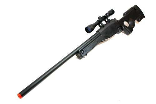 BBTac Airsoft Rifle 1 BBTac Airsoft Sniper Rifle 500 FPS BT-96 Full Metal Bolt Action AWP with 3x Scope Package