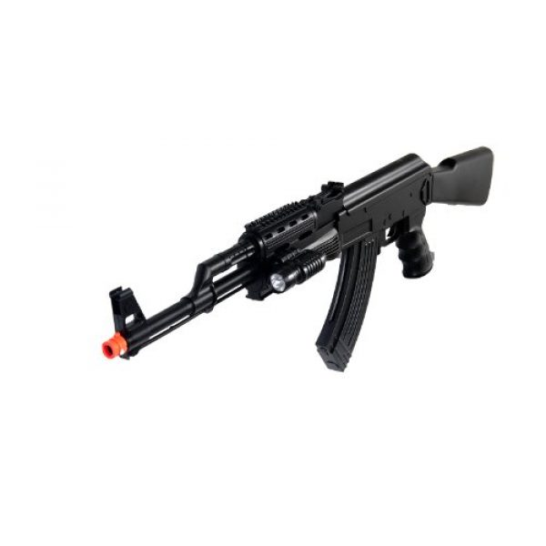 UKARMS Airsoft Rifle 2 UKARMS P48 Airsoft Gun Tactical AK-47 Spring Rifle with Flashlight FPS 250
