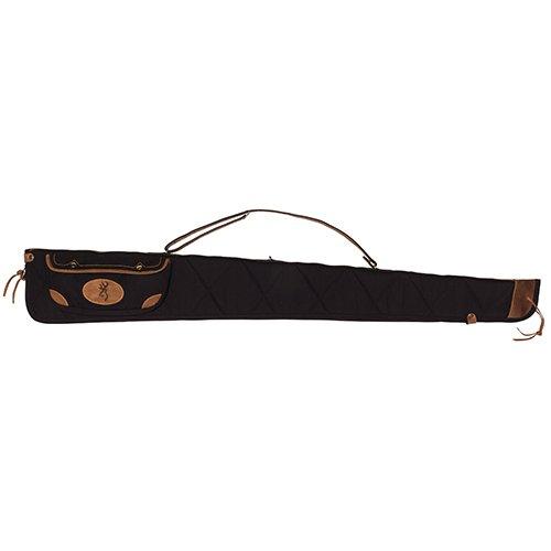 """Browning Airsoft Gun Case 1 Browning Lona Black/Brown 52"""" Leather Shotgun Case (1413889952)"""