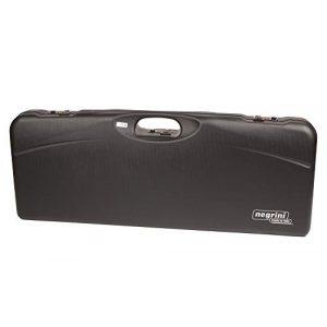 Negrini Cases Airsoft Gun Case 1 Negrini Cases 1652LR-TS/5040 Shotgun Case for O/U ABS/1 Gun/1 Barrel up to 33 1/2-Inch with 3 Tube Set, Black/Blue