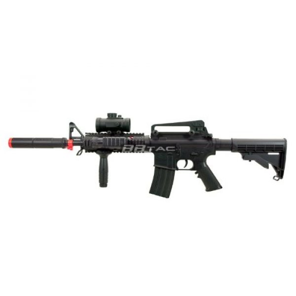 BBTac Airsoft Rifle 5 BBTac M83 Full and Semi Automatic Electric Powered Airsoft Gun Full Tactical Accessories Ready to Play Package