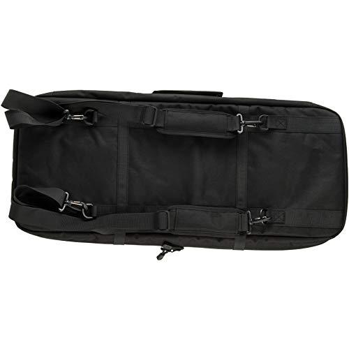 "Lancer Tactical Airsoft Gun Case 2 Lancer Tactical 1000D Nylon 3-Way Carry 29"" Double Rifle Gun Bag Black Firearm Backpack Pistol Handgun Case"