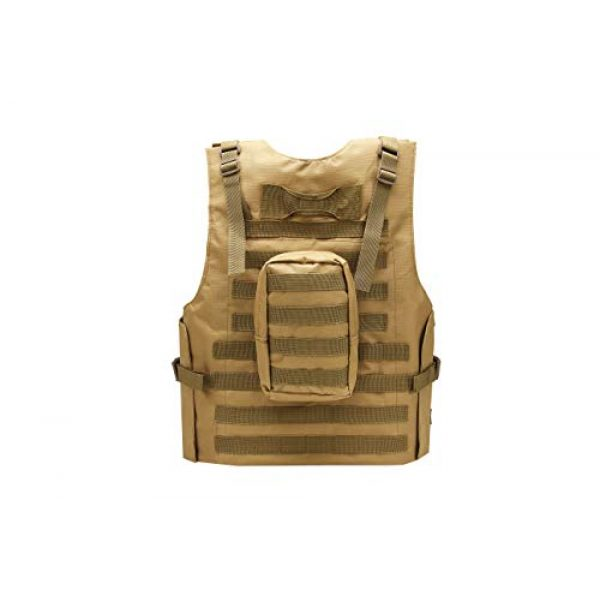 Redemption Tactical Airsoft Tactical Vest 2 Tactical Airsoft Paintball Vest, Free US Flag Patch, Mil Spec 1000D Nylon PALS Molle Modular w/ 4 Mag Pouches, Side Pouch, Chest Mag Pouch