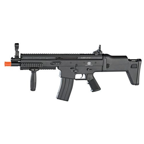 FN Airsoft Rifle 1 FN Scar-L Spring Powered Airsoft Rifle, Black, 400 FPS
