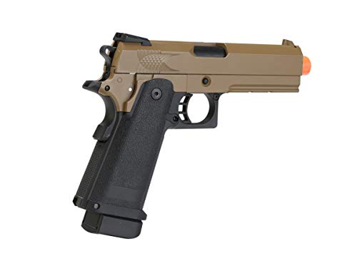 BULLDOG AIRSOFT Airsoft Pistol 6 Airsoft HI-CAPA 4.3 Desert CO2 Pistol with Free Speed Loader BBS and Gun Case [Airsoft Blowback]