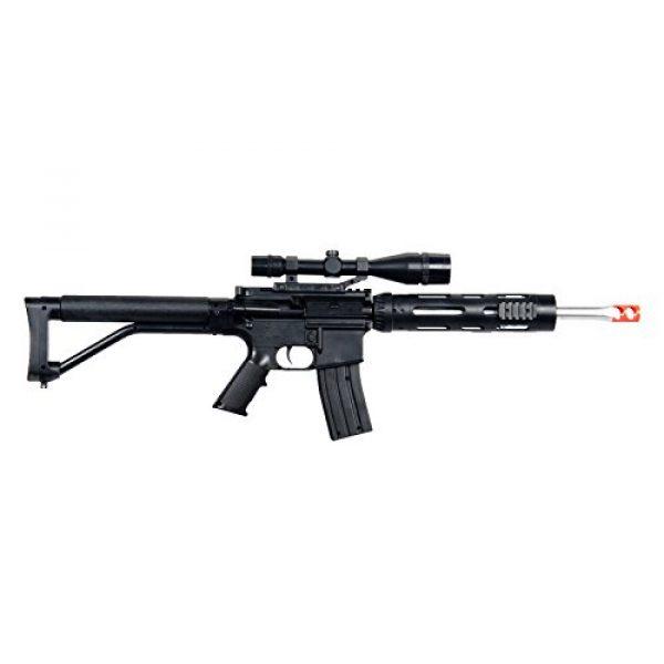 UKARMS Airsoft Rifle 5 UKARMS P1136 Marksman Sniper Spring Airsoft Rifle & Pistol Combo Gun Set FPS 260, Black