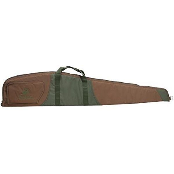 """The Outdoor Connection Airsoft Gun Case 1 The Outdoor Connection Ripstop Nylon Scoped Rifle Case, Brass/Green, 44"""""""