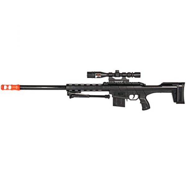 BBTac Airsoft Rifle 4 BBTac Airsoft Sniper Rifle Gun - Powerful Spring Loaded Shoots 6mm BBS Easy to use, Great for Starter Pack Game Play
