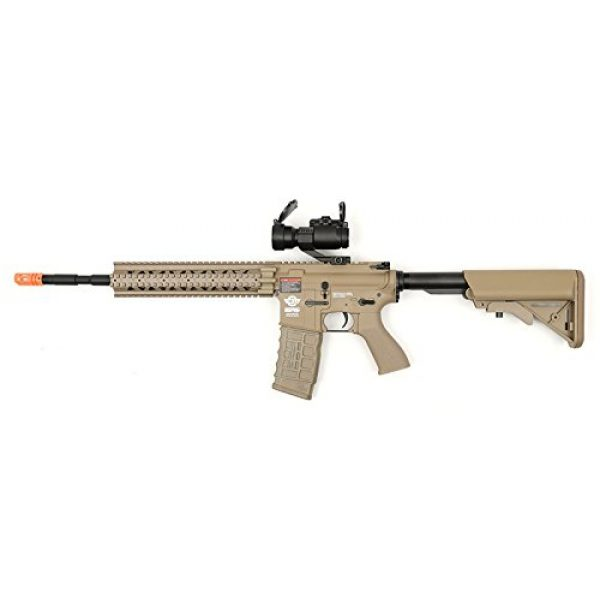G&G Airsoft Rifle 1 electric G&G cm16 r8-l desert tan airsoft rifle fps-450 combo w/ g-11-056 red dot scope(Airsoft Gun)