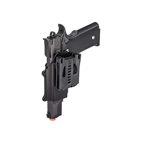 UKARMS Airsoft Pistol 6 UKARMS Galaxy G20H Full Metal M945 Airsoft Spring Hand Gun with Quick Release Holster