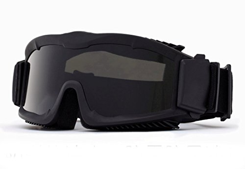 AKT Airsoft Goggle 1 Outdoor Tactical Vented Safety Airsoft Goggles CS Paintball Glasses Interchangeable 3 Lens Kit(Black)