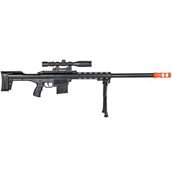 BBTac Airsoft Rifle 3 BBTac Airsoft Sniper Rifle Gun - Powerful Spring Loaded Shoots 6mm BBS Easy to use, Great for Starter Pack Game Play
