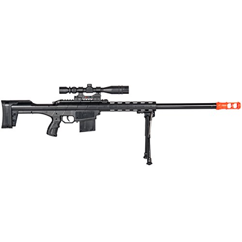 BBTac  2 BBTac Airsoft Sniper Rifle Gun - Powerful Spring Loaded Shoots 6mm BBS Easy to use