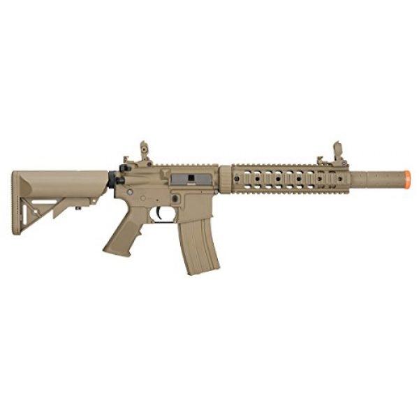 Lancer Tactical Airsoft Rifle 2 Lancer Tactical M4 Gen 2 AEG Electric Airsoft Rifle Gun - Tan