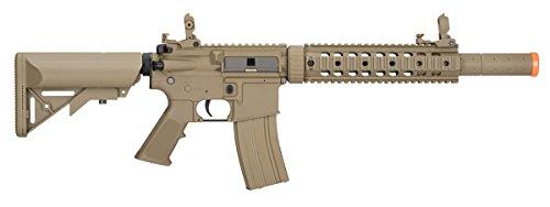 Lancer Tactical  2 Lancer Tactical M4 Gen 2 AEG Electric Airsoft Rifle Gun - Tan