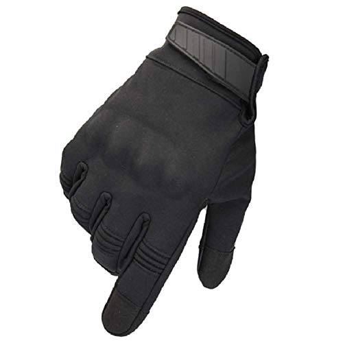 HYCOPROT Airsoft Glove 1 HYCOPROT Outdoor Full Finger Waterproof Windproof Tactical Gloves with Flexible Touch Screen Hard Knuckle Protect for Cycling Motorcycle Climbing Gardening Hunting Gear