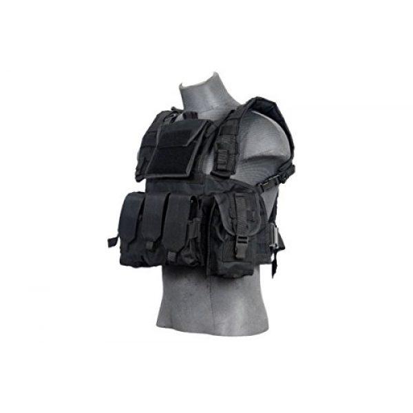 Lancer Tactical Airsoft Tactical Vest 1 Lancer Tactical CA-781GX Modular Chest Rig Tactical Gear - BLK