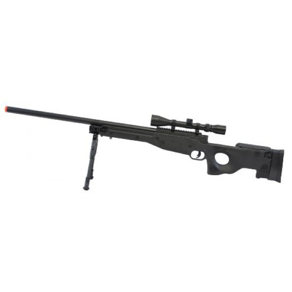BBTac Airsoft Rifle 1 BBTac Airsoft Sniper Rifle BT-L96 Bolt Action Spring with Bipod & Scope Package