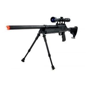BBTac Airsoft Rifle 1 470 fps wellfire aps sr-2 modular full metal bolt action sniper rifle w/ scope pkg mb06d(Airsoft Gun)