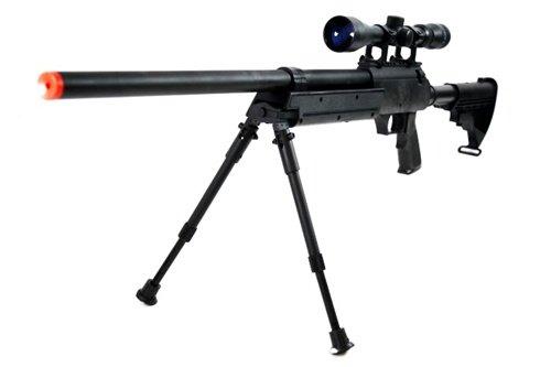 BBTac  1 470 fps wellfire aps sr-2 modular full metal bolt action sniper rifle w/ scope pkg mb06d(Airsoft Gun)