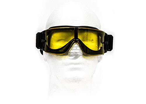 Lancer Tactical Airsoft Goggle 2 Lancer Tactical CA-234Y Airsoft Safety Goggles - Framless/Yellow Lens