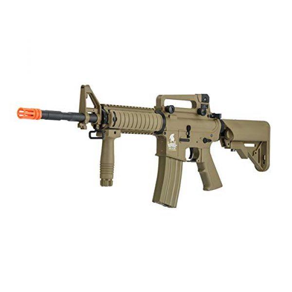 Lancer Tactical Airsoft Rifle 3 Lancer Tactical Gen 2 Upgraded RIS LT-04 AEG Metal Gear Electric Airsoft Gun, Dark Earth