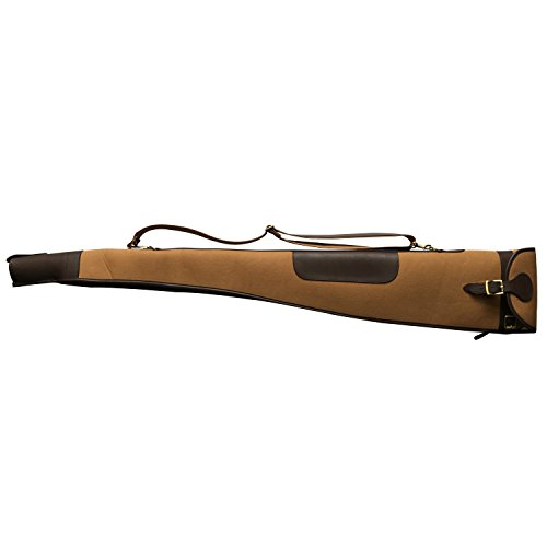 "TOURBON  1 TOURBON Vintage Hunting Gun Carrying Bag Slip Shotgun Case 50"" - Canvas and Leather"