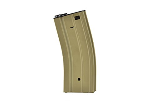 Golden Eagle  1 Golden Eagle Air Soft Airsoft Gameplay BB Airsoft Magazine M4 AEG 300rd High Capacity - Tan Airsoft Use