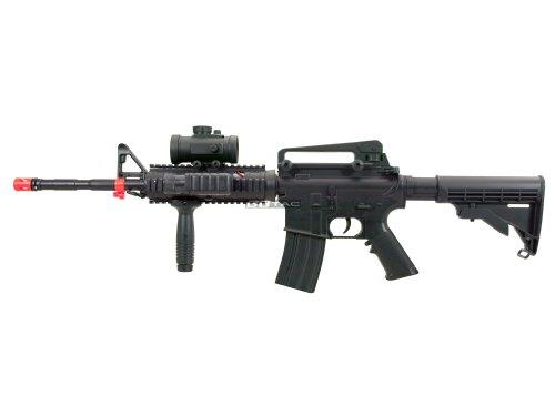 BBTac  4 BBTac M83 Full Auto Electric Power Airsoft Gun LPEG/250 FPS/Red Dot Sight/Flash Light