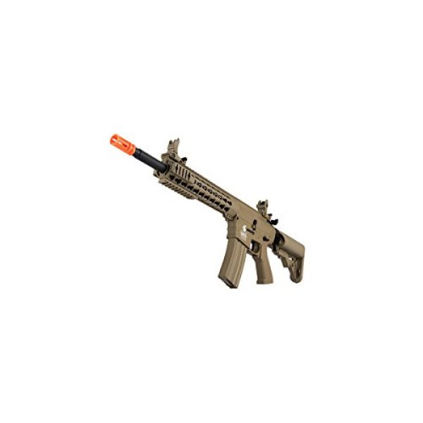 Lancer Tactical Airsoft Rifle 5 Lancer Tactical GEN 2 M4 Custom Body AEG Metal Gear Electric Airsoft Rifle - TAN