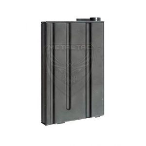 MetalTac Airsoft Gun Magazine 1 MetalTac Airsoft M-Series Magazine Short Mag, High-Cap 190 Round, Full Metal (Black) for Airsoft Guns, Fast Loading Wheel, Ultra Durable