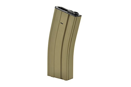 Golden Eagle  2 Golden Eagle Air Soft Airsoft Gameplay BB Airsoft Magazine M4 AEG 300rd High Capacity - Tan Airsoft Use