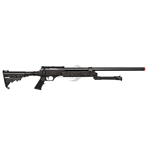 Well Airsoft Rifle 5 Well Full Metal ASR MB06 SR-2 Bolt Action Sniper Rifle Airsoft Gun (Black/ Bipod Package)