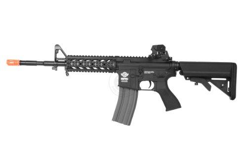 G&G  3 G&G airsoft combat machine m4 raider high-performance full metal gearbox aeg rifle w/ integrated ras and crane stock(Airsoft Gun)