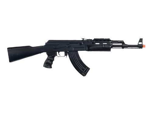 UKARMS  1 UKARMS P48 Airsoft Gun Tactical AK-47 Spring Rifle with Flashlight FPS 250