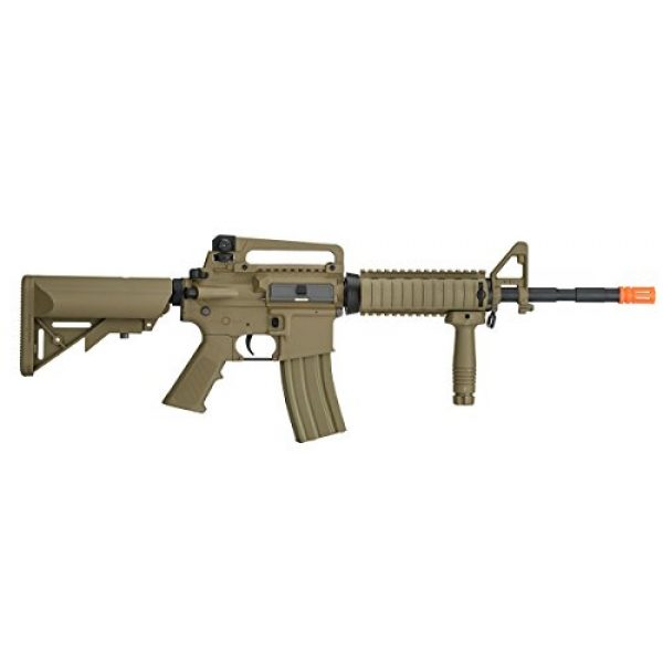 UKARMS Airsoft Rifle 3 UKARMS Lancer Tactical M4A1 Airsoft Gun Rifle RIS SOPMOD AEG Metal Gears Raider w/ 9.6v Battery & Charger (Tan High Velocity)