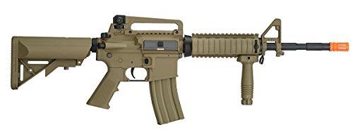 UKARMS  3 UKARMS Lancer Tactical M4A1 Airsoft Gun Rifle RIS SOPMOD AEG Metal Gears Raider w/ 9.6v Battery & Charger (Tan High Velocity)