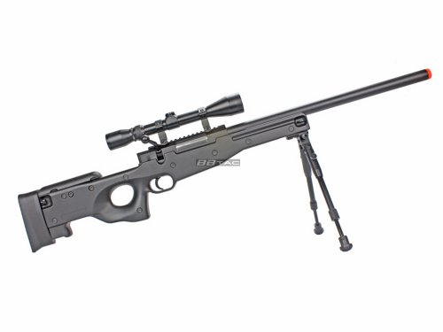BBTac Airsoft Rifle 3 BBTac BT59 Airsoft Sniper Rifle Bolt Action Type 96 Airsoft Gun with 3X Rifle Scope and Aluminum Bipod