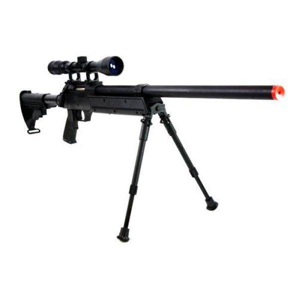 BBTac Airsoft Rifle 3 470 fps wellfire aps sr-2 modular full metal bolt action sniper rifle w/ scope pkg mb06d(Airsoft Gun)