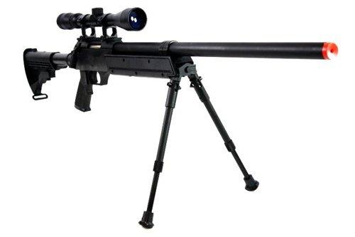 BBTac  3 470 fps wellfire aps sr-2 modular full metal bolt action sniper rifle w/ scope pkg mb06d(Airsoft Gun)