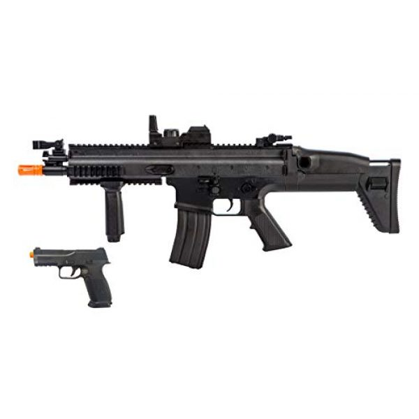 FN Airsoft Rifle 1 FN Airsoft Starter Kit Including FN SCAR AEG Electric Powered Gun with Hop-Up and FNS-9 Spring Pistol
