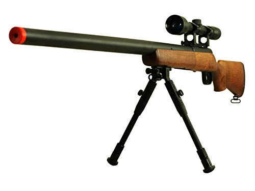 BBTac Airsoft Rifle 1 BBTac Airsoft Sniper Rifle VSR-10 Bolt Action Powerful Spring Airsoft Gun with Hunting Scope and Bipod