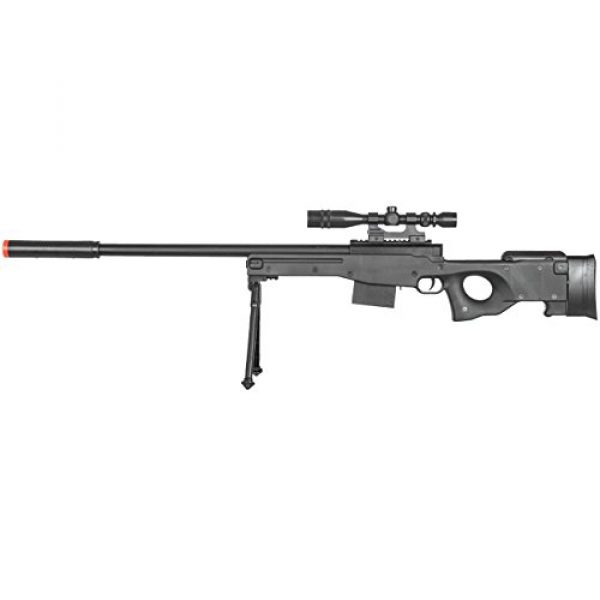 BBTac Airsoft Rifle 2 BBTac Airsoft Sniper Rifle Gun - Powerful Spring Loaded Easy to use, Great for Starter Pack Game Play