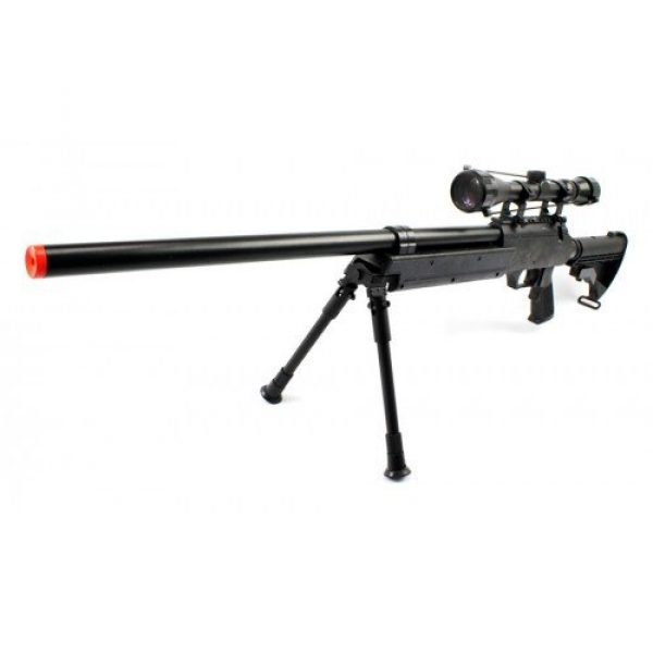 BBTac Airsoft Rifle 1 Spring Bolt Action Well m187d fps-550 Metal Airsoft Sniper Rifle Gun w/Scope, bi-pod(Airsoft Gun)