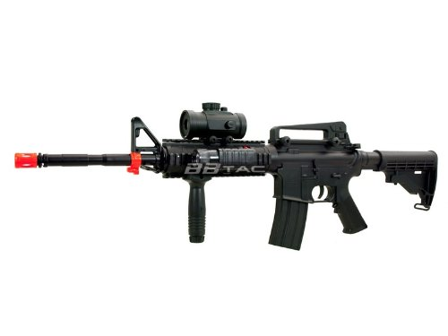 BBTac  1 BBTac M83 Full and Semi Automatic Electric Powered Airsoft Gun Full Tactical Accessories Ready to Play Package