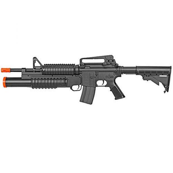 BBTac Airsoft Rifle 3 BBTac Airsoft Gun Electric Rifle Full Auto with Burst 3 Round Launcher, Rail System, Powerful AEG Shoot 6mm BBS